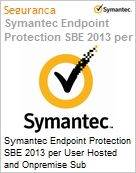 Symantec Endpoint Protection SBE 2013 per User Hosted and Onpremise Sub [Assinatura] Upfront Bill Express Band A [001-024] Sb Support 12 Meses  (Figura somente ilustrativa, não representa o produto real)
