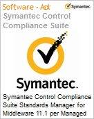 Symantec Control Compliance Suite Standards Manager for Middleware 11.1 per Managed Server Sub [Assinatura] License Express Band S [001+] Essential 12 Meses (Figura somente ilustrativa, não representa o produto real)