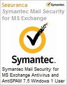 Symantec Mail Security for MS Exchange Antivirus and AntiSPAM 7.5 Windows 1 User Bndl Xgrd [Crossgrade] License from Mail Sec for Mse Av Express Band C [050-099] Essential 12 Meses (Figura somente ilustrativa, não representa o produto real)