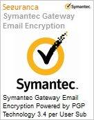 Symantec Gateway Email Encryption Powered by PGP Technology 3.4 per User Sub [Assinatura] License Express Band A [001-024] Essential 12 Meses  (Figura somente ilustrativa, não representa o produto real)