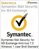 Symantec Mail Security for MS Exchange Antivirus 7.5 Windows 1 User Bndl Standard License Express Band C [050-099] Essential 12 Meses  (Figura somente ilustrativa, não representa o produto real)