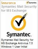 Symantec Mail Security for MS Exchange Antivirus 7.5 Windows 1 User Initial Essential 12 Meses Express Band B [025-049]  (Figura somente ilustrativa, não representa o produto real)