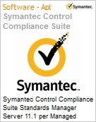 Symantec Control Compliance Suite Standards Manager Server 11.1 per Managed Server Sub [Assinatura] License Express Band S [001+] Essential 12 Meses (Figura somente ilustrativa, não representa o produto real)