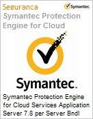 Symantec Protection Engine for Cloud Services Application Server 7.8 per Server Bndl Standard License Express Band S [001+] Essential 12 Meses  (Figura somente ilustrativa, não representa o produto real)
