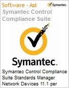 Symantec Control Compliance Suite Standards Manager Network Devices 11.1 per Managed Device Sub [Assinatura] License Express Band S [001+] Essential 12 Meses (Figura somente ilustrativa, não representa o produto real)
