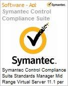 Symantec Control Compliance Suite Standards Manager Mid Range Virtual Server 11.1 per Managed Server Initial Essential 12 Meses Express Band S [001+] (Figura somente ilustrativa, não representa o produto real)