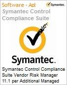 Symantec Control Compliance Suite Vendor Risk Manager 11.1 per Additional Managed Vendor Sub [Assinatura] License Express Band S [001+] Essential 12 Meses (Figura somente ilustrativa, não representa o produto real)
