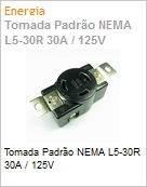 Tomada Padrão NEMA L5-30R 30A / 125V (Figura somente ilustrativa, não representa o produto real)