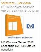 HP Windows Server 2012 Essentials R2 ROK (até 25 usuarios)  (Figura somente ilustrativa, não representa o produto real)