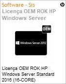 Licença OEM ROK HP Windows Server Standard 2016 (16-CORE)  (Figura somente ilustrativa, não representa o produto real)