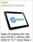 Tablet HP ElitePad 900 Intel Atom Z2760 (1.50GHz) 2GB 32GB G1 10,1 Gorila Glass 2 Windows 8 Professional Wi-Fi N Bluetooth 4.0 8MP microSD NFC (Figura somente ilustrativa, não representa o produto real)
