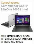 Microcomputador All-in-One HP EliteOne 800G1 Intel Core i5-4590S 4GB 500GB DVD-RW 23 Windows 8.1  (Figura somente ilustrativa, não representa o produto real)