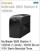 No-Break SMS Station II 1200VA (1,2kVA) / 600W Bivolt 115V Semi-Senoidal Torre  (Figura somente ilustrativa, não representa o produto real)